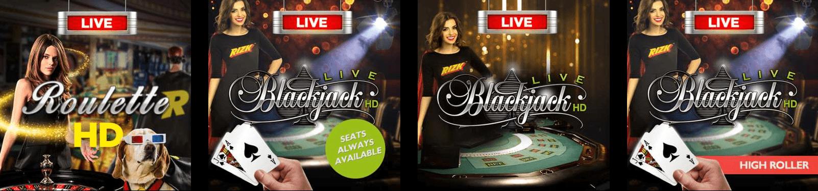 LiveCasino Auto Roulette - Rizk Casino