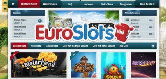 Euroslots Casino - Freispiele ohne Einzahlung