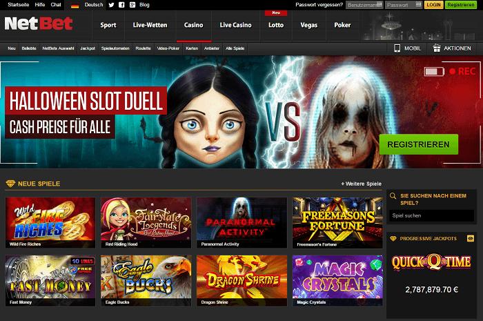 NetBet Casino - Viele Spielautomaten