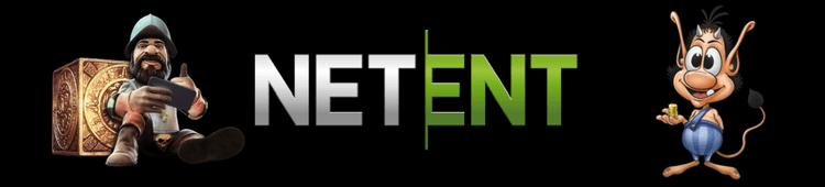 NetEnt logo mit gonzo und Hugo