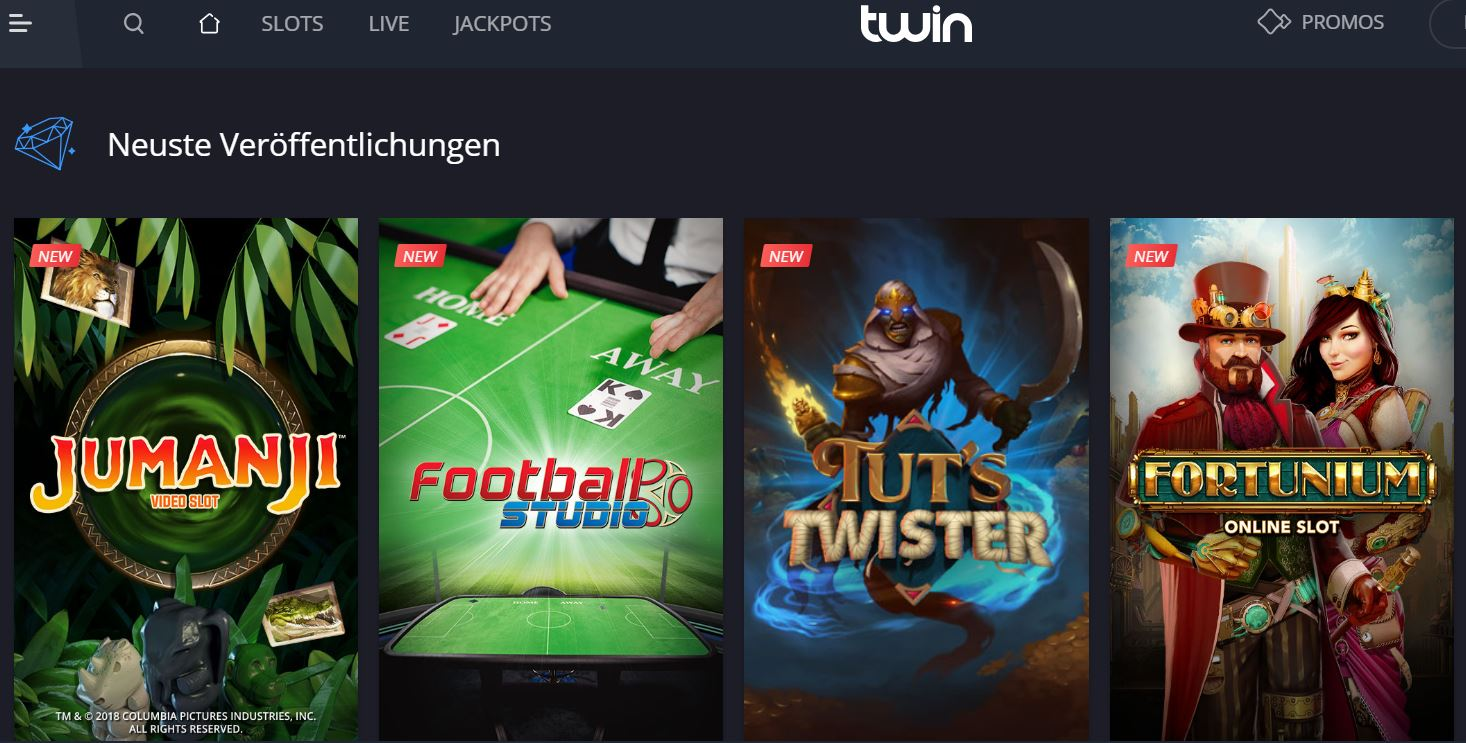 Twin Casino - Exklusiv 20 Freispiele