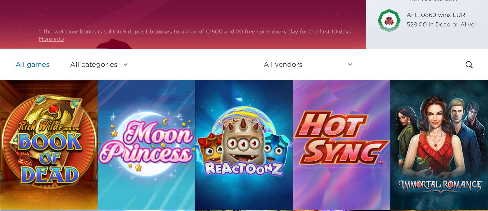 Zodiac Casino Zahlung