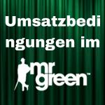 mr green Umsatzbedingungen