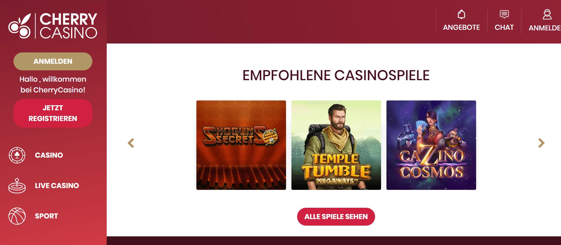 cherry casino willkommen
