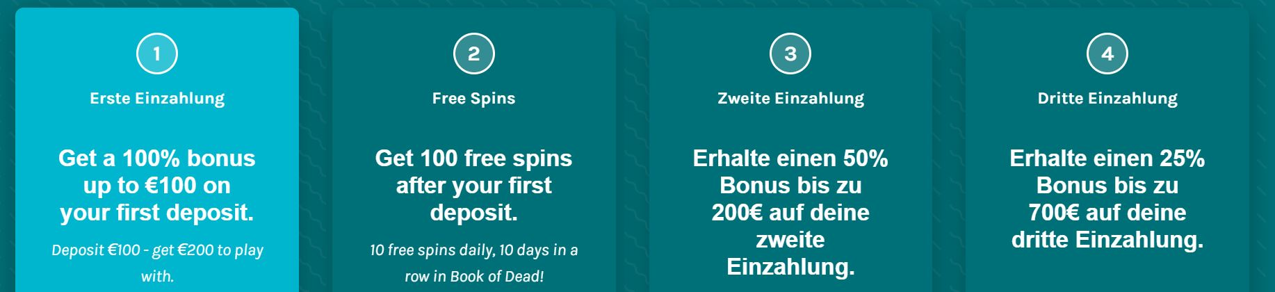 Lucky days €1000 bonus + 100 spins