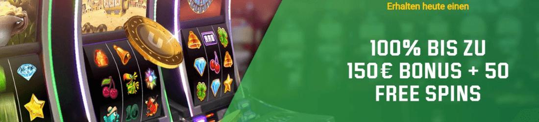 unibet 150 €  bonus + 50 spins