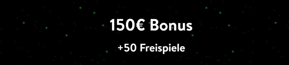 150 € plus 50 Free Spins wishmaker
