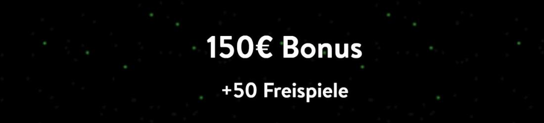 150 € plus 50 Free Spins wishmaker