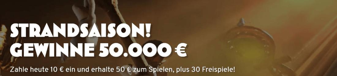 wunderino 40 € plus 30 Cash Spins