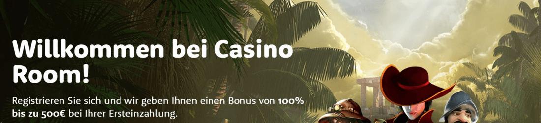 casino room 100% bonus