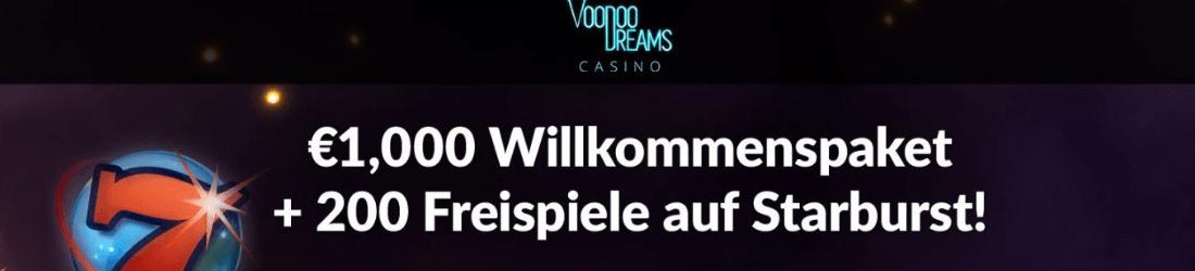 voodoo dreams 1.000 € plus 200 Free Spins