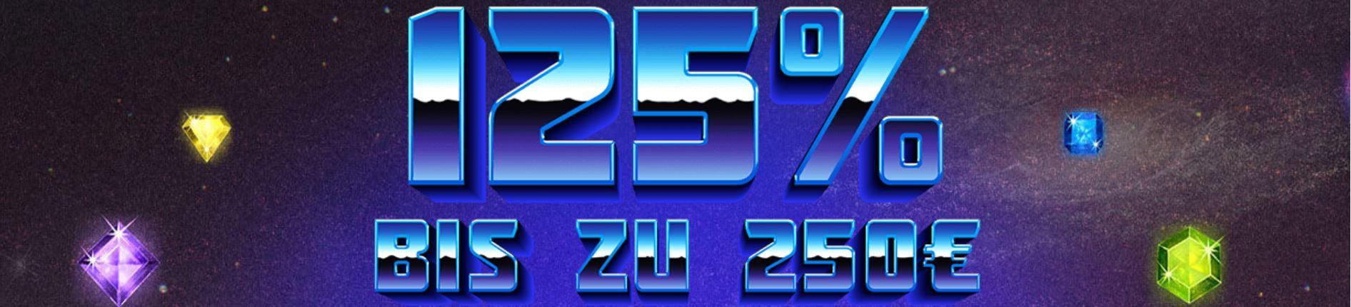 casino club 125% bonus  bis zu €250