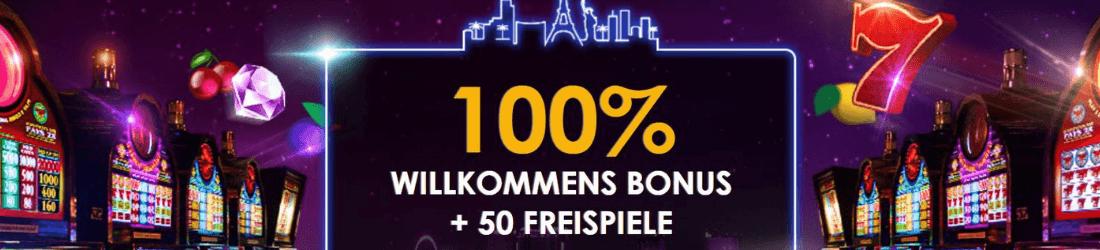 casono las vegas 100% bonus + 50 free spins
