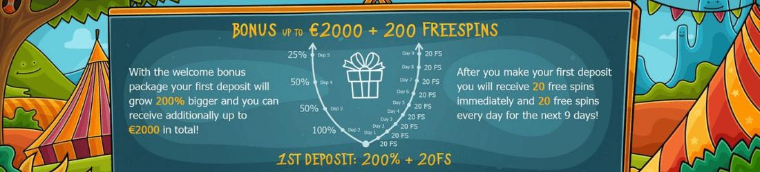 casino x €2000 bonus + 200 free spins