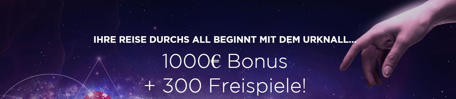 genesis €1000 bonus + 300 free spins