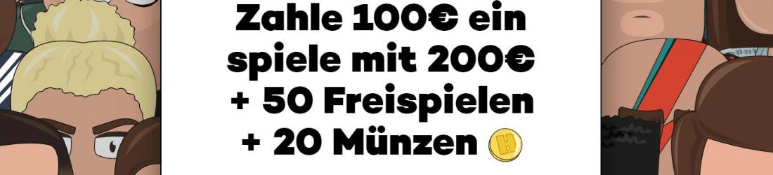 high roller bis zu €50 bonus