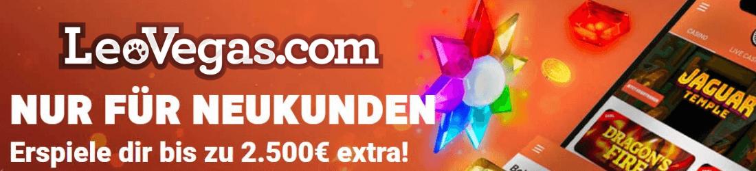 LeoVegas €2500 bonus