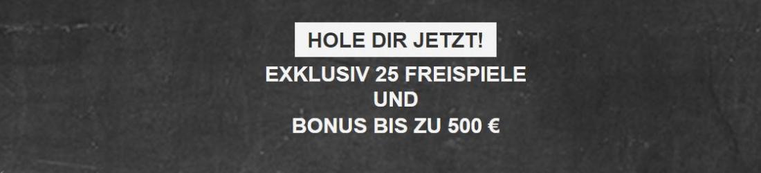 mobilautomaten 25 spins + €500 bonus
