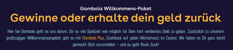gambola cash back bonus