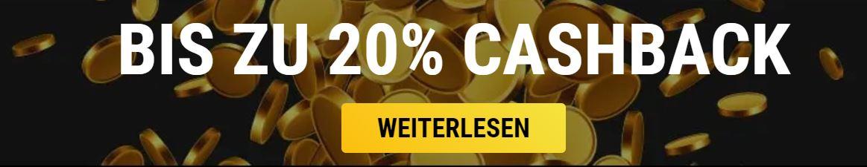 VIPs casino 20% cashback