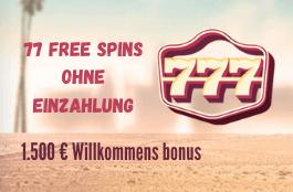 777 DE welcome bonus