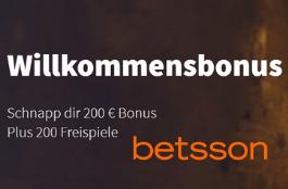 betsson DE 200 free spins und 200 euro bonus
