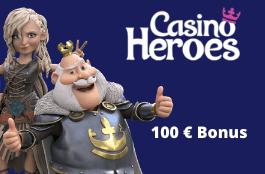 Casino Heroes 100 euro bonus