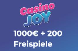 casino joy DE 1000 euro bonus und 200 spins