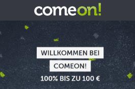 comeon 100 € Bonus
