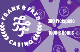 frenk fred DE 300 free spins und 1000 euro bonus