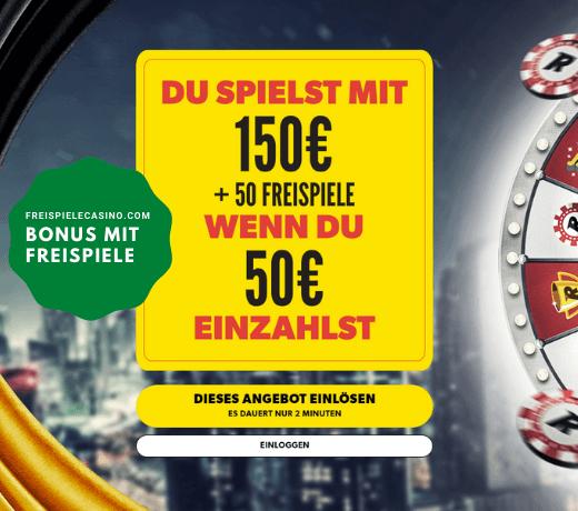 Freispiele bonus auf Rizk Casino