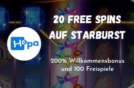 hopa 20 spins Starburst