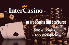intercasino DE 10 spins auf starburst