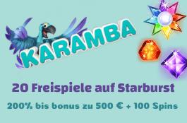 karamba DE 20 free spins starburst