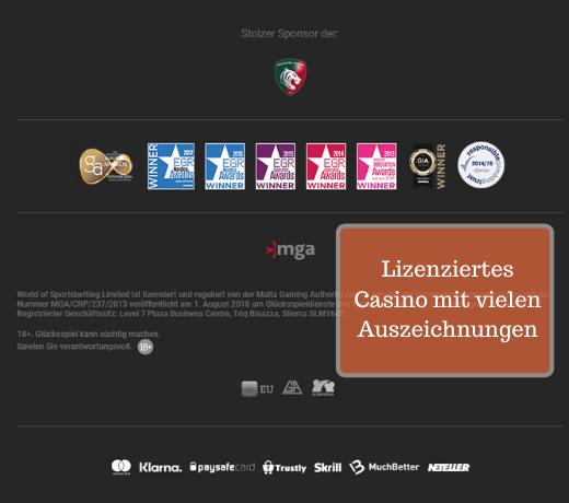 LeoVegas Lizenziert und vielen Auszeichnungen