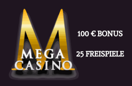 Mega Casino DE 100 euro bonus
