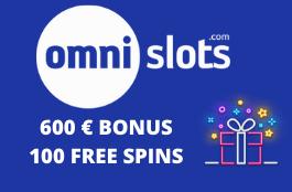 omni slots 600 euro bonus 100 free spins