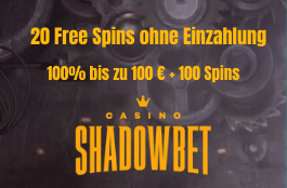 shadowbet DE 20 free spins