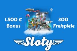 sloty DE 1500 euro bonus + 300 spins