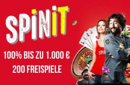 spinit DE 1000 euro bonus + 200 spins