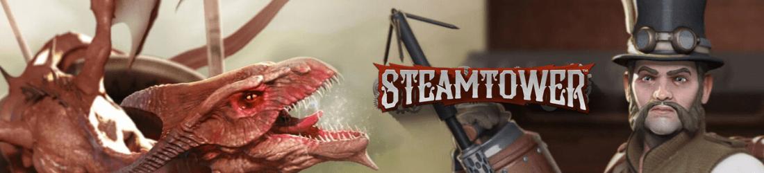 Steam Tower ist ein online verfügbarer einarmiger  des britischen Anbieter