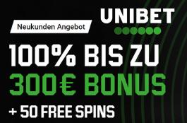 unibet 300 euro bonus 50 spins