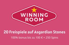Winning Room DE 20 spins asgaridan stones