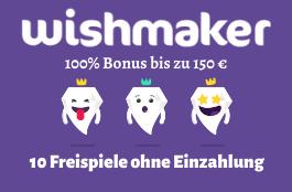 wishmaker DE 10 freispiele