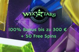 wixstars DE 300 euro bonus 50 spins