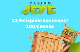 casino jefe DE 11 freispiele und 100 euro bonus