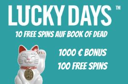 lucky days 10 freispiele auf book of dead