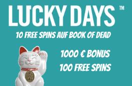 lucky days 10 freispiele auf book of dead