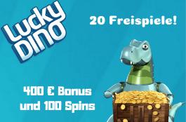 lucky dino DE 400 euro bonus und 120 spins