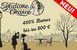 madame chance bis zu 800 euro bonus